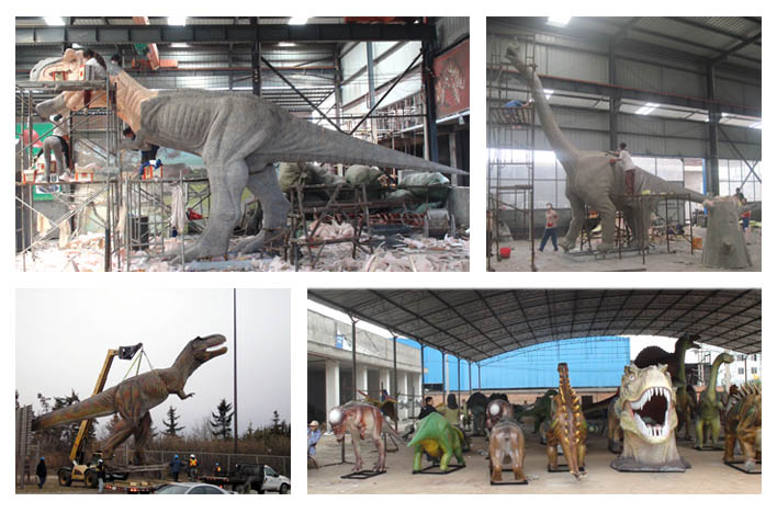 Life Size Simulation Dinosaur in the factory