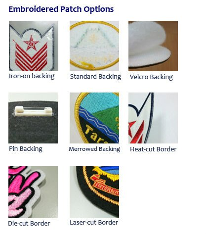 Embroidered Patch Option