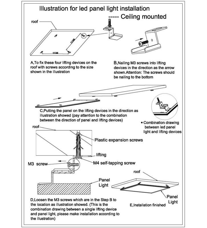 LED Panel Light Installation Instructions