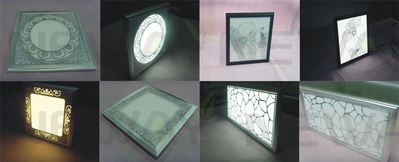 18W 300x300 RGB LED Ceiling Panel etching or printing various beautiful patterns