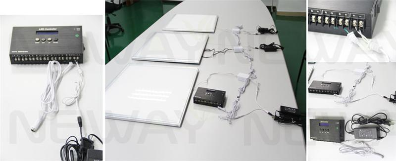 60W Ultra Thin LED Flat-Panel 595x595MM DMX512 Control System and Brightness and Colour Temperature Dimmable Remote Control