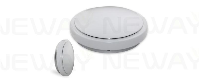 Traditional Bathroom Barclay Flush Fitting Glass Ceiling: Flat LED Ceiling Mounted Light For Living Room 10 12W 18W