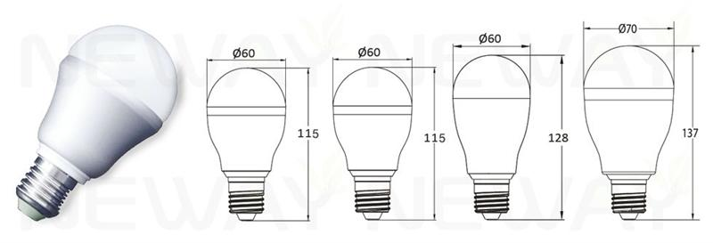 A60 Led Bulb Light Led4040 Series 5w 7w 9w 12w A19 E27 A60 Led Bulb Light Led4040 Series 5w 7w