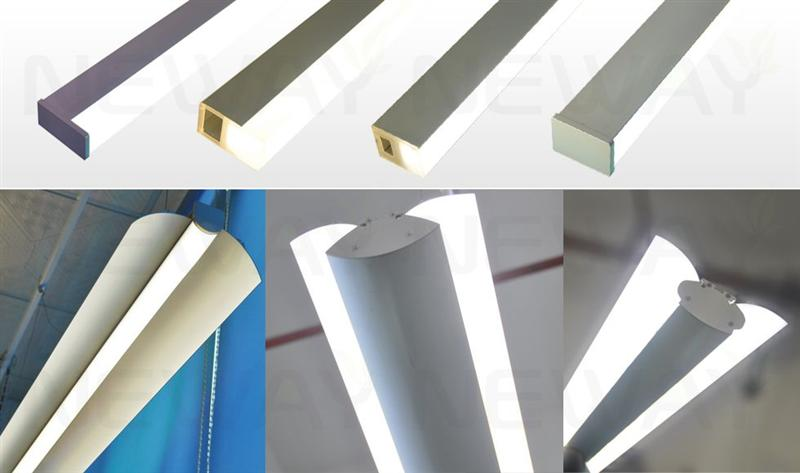 36w 45w 60w Up Down Suspended Linear Light Fixture Bedroom