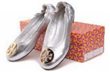 Wholesale Sheepskin leather ballet flat shoes
