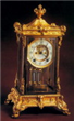 Glass-cased Copper Clock