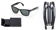 Black Foldable Sun Glasses