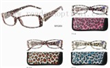 Fashion Plastic Reading Glasses With Pouch
