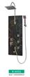Black glass board shower panel