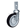 5-inch Shopping Cart Caster Wheel with Flat stem, European Style