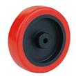 3-inch Red PU Wheel