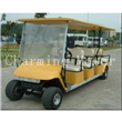 Yellow Electric Golf Kart