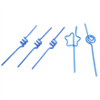 D5 BLUE Artistic Straw