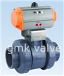 Plastic UPVC Penumatic Ball Valve