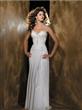 Spaghetti Straps Floucing Chiffon Wedding Dress