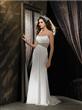 Full Length Column/Sheath Chiffon Wedding Dress