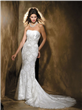 Beading Embroidery Column/Sheath Wedding Dress
