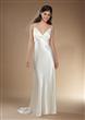 V-neck Column/Sheath Satin Wedding Dress