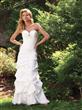 Chiffon Informal Simple Wedding Dress