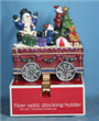 """Stocking Holder of Christmas Train with Fiber"