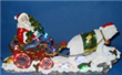 "14.6""LED Santa on Polar Bear Sleigh with Xmas"
