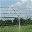 Galvanized Barbed Wire Security Fence