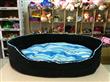 Blue Suede Canvas Pet Bed