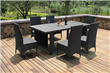 7 Piece wicker Dining Outdoor furniture