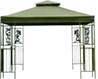 Outdoor metal gazebo with double roof