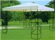 Outdoor metal gazebo with white cover