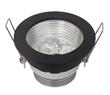 3W 4W Black Recessed LED Downlights