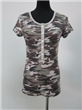 Placket Front Camouflage Women Clothing