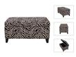 Zebra Stripen Sofa Ottoman