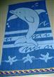 Blue Color Cotton Jacquard Velvet Beach Towels