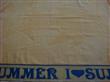 Cotton Jacquard Yellow Color Beach Towels