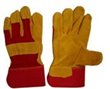 Full Palm Yellow Leather Gloves