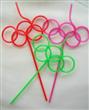 Color Stripe Plastic drinking Straws