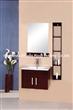 square bathroom vanitym with side shef