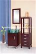 Glass basin bathroom cabinet with tall boy