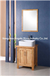 transparent bathroom cabinet with frame mirror