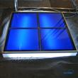 Raised lighting glass floor