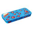 Blue patterned pencil case