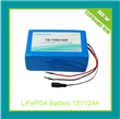 12V 12Ah Rechargeable LiFePO4 Battery Pack With PCM Protection