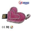 Pink heart USB drive