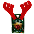 CHRISTMAS DECORATION REINDEER ANTLER W/RED NOSE/XMAS HEADWEAR ACCESSOR