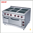 Electric 6 Hot-plate Cooking Equipment