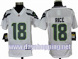 Youth Nike NFL jersey Seattle Seahawks 18 Rice white