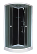 Black Back glass shower cabin