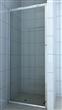 Chromed fixed shower door