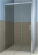 Chrome three sliding shower door